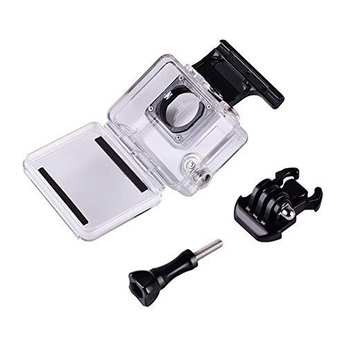 XUSUYUNCHUANG-HAT Unterwasser 45m Wasserdicht Schutzgehäuse Shell-Fall mit Tauchfilter for GoPro Hero 4 3+ Schwarz-Silber-Action-Kamera (Colour : Black Color)