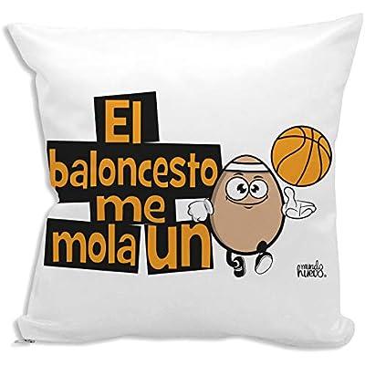 Cojín + Relleno. El Baloncesto me Mola un Huevo. Agradable Tacto algodón