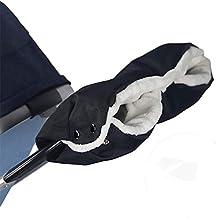 ZONSUSE Handwärmer Kinderwagen Winter,Kinderwagen Warme Handschuhe,2 Klettverschluss Haken für Kinderwagen Buggy Kinderwagenmuff, Muff mit Fleece Innenseite, Wasser- und windabweisend