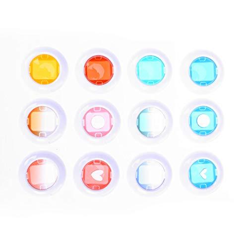 LEDMOMO kleurfilter set gekleurde lenzen set Polaroid Fujifilm Instax Mini 8/8+/9/7S/KT 12 stuks