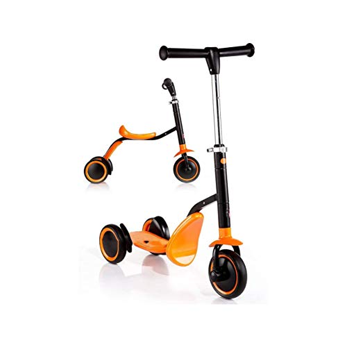 Purchase FGH QPLKKMOI Mini Scooter for Kids, Adjustable Height, Three-Wheeled Dual-Use Multi-Functio...