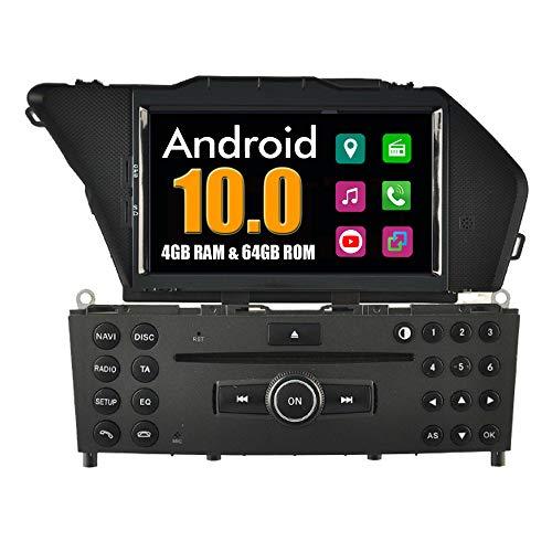 RoverOne Sistema Android Autoradio per Mercedes-Benz GLK X204/300/350 2008 2009 2010 con DVD Multimediale Radio Stereo di Navigazione GPS Bluetooth Mirror Link USB