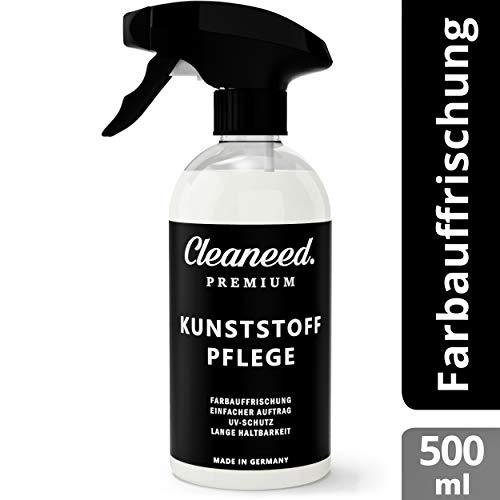 Cleaneed Premium Kunststoffpflege – Made IN Germany – Farbauffrischung, UV-Schutz, Lange Haltbarkeit, Einfacher Auftrag, Matt