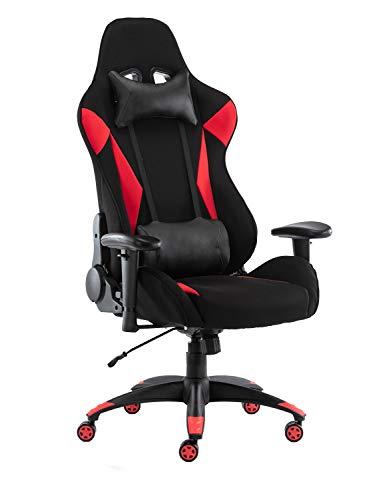 Gaming Chair,Office Computer Desk Chair High Back Tilt Back Adjustable Armrest Height with Lumbar Support Headrest