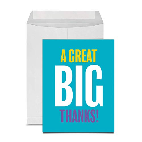 """Jot & Mark Jumbo Thank-you Card from Everyone (one 8.5 x 11"""" card with matching envelope)"""