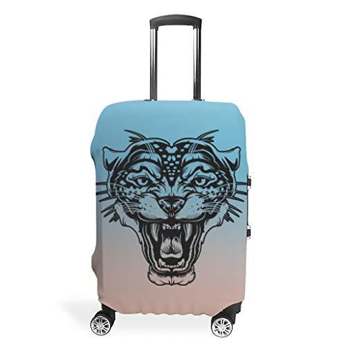 Tiger Leopard León Animales maletas cubiertas equipaje Cover equipaje protectora Print Viaje maleta Protector Maleta de viaje