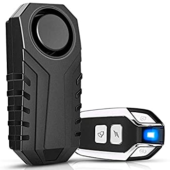 Onvian Bike Alarm with Remote Wireless Anti-Theft Motorcycle Alarm Waterproof Bicycle Alarm Security Vibration Motion Sensor for Bike Motorcycle Electric Scooter Moped Etc - 113dB