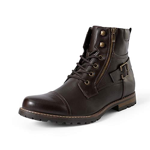 Bruno Marc Men's Philly-3 Dark Brown Military Combat Boots – 6.5 M US