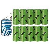 Balacoo Dispensador de Bolsas de Basura para Perros con 150 Bolsas de Basura para Mascotas Dispensador de Bolsas de Caca para Perros Oxford Soporte de Bolsa con Clip Bolsa con Cremallera