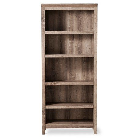 "72"" Carson 5 Shelf Bookcase Rustic - Threshold™"