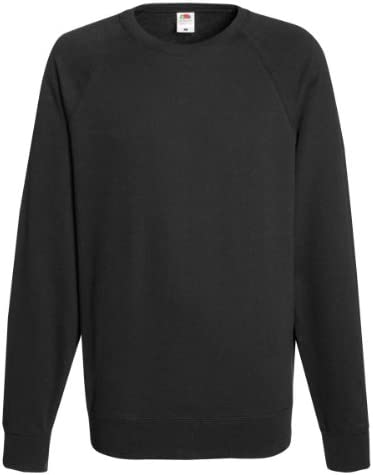 Fruit of the Loom Sudadera Camiseta Manga Larga Hombre Negra