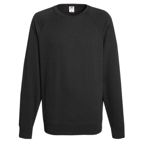 Fruit of the Loom Herren, Sweatshirt, Raglan Sweatshirt L,Schwarz - Schwarz
