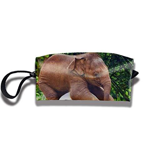 Kosmetiktasche Bleistiftbeutel, Elefantenspiel Fußball Briefpapier Geldbörse Aufbewahrungsorganisator Reisehalter