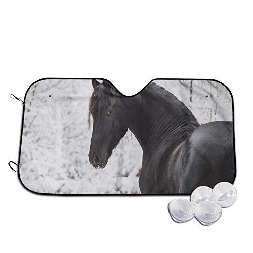 Xhayo Funda protectora para parabrisas de coche, diseño de caballo deportivo, resistente a los rayos UV, al polvo, al agua, ajuste perfecto para coches, SUV, todo el año, verano, invierno