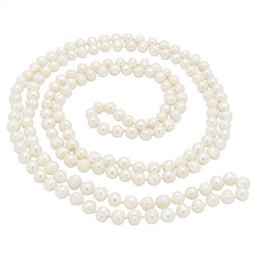 Collana lunga in perle d'acqua dolce, da donna