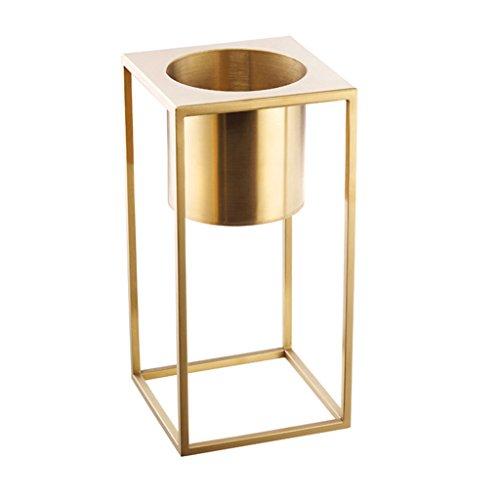 BOBE SHOP- IJzeren Bloemenplank Moderne Eenvoudige Kleine Desktop Gouden Bloem Pot Bloemenrek Kantoor Woonkamer Slaapkamer Eettafel Decoratie
