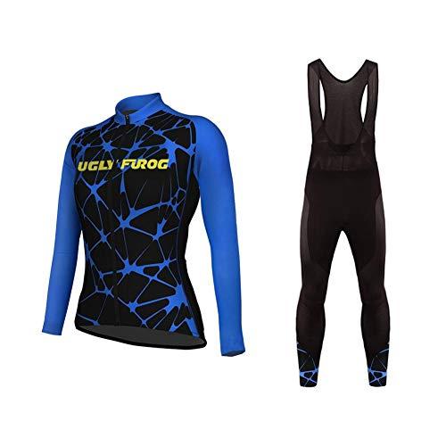Uglyfrog Abbigliamento Ciclismo Set Winter Fleece Abbigliamento Sportivo per Bicicletta Maglia e...