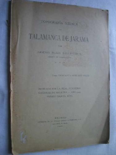 TOPOGRAFÍA MÉDICA DE TALAMANCA DE JARAMA