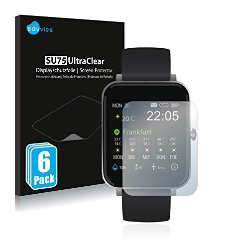 savvies Protector Pantalla Compatible con Zagzog Smartwatch 1.54  (6 Unidades) Pelicula Ultra Transparente