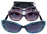 Gafas Sol Polarizadas Mujer   Mejores Gafas De Sol   Gafas Elegantes Mujer   Gafas De Sol Redondas   Gafas Espejo Ojos De Gato (Azul)