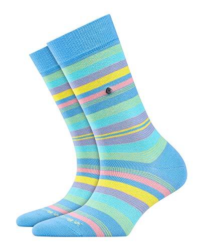 BURLINGTON Damen Socken Stripe - 80% Baumwolle, 1 Paar, Blau (Sky Blue 6254), Größe: 36-41