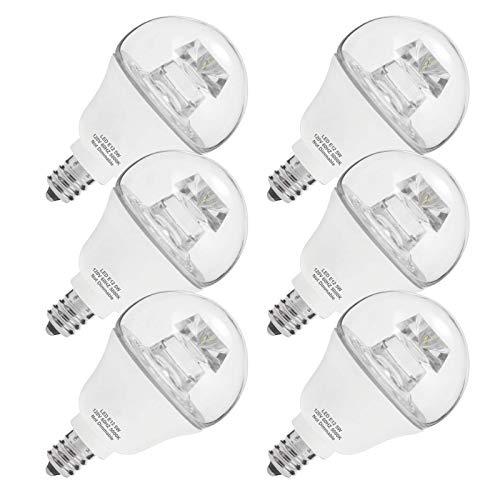 MZSG E12 LED Birne 40W Äquivalent Globus G14 Tageslicht 5000k Nachtlicht 5W 120V Tisch Schreibtischlampe Für Deckenventilator Küche Kronleuchter 6 stücke,Daylight White