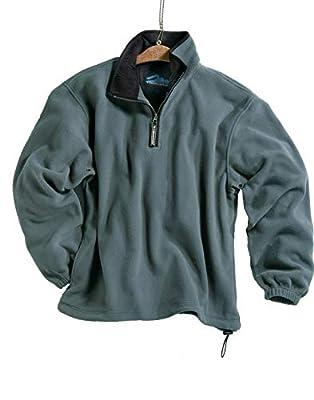 Tri-mountain Micro fleece 1/4 zip pullover. 7100TM - SAGE / BLACK_XL by