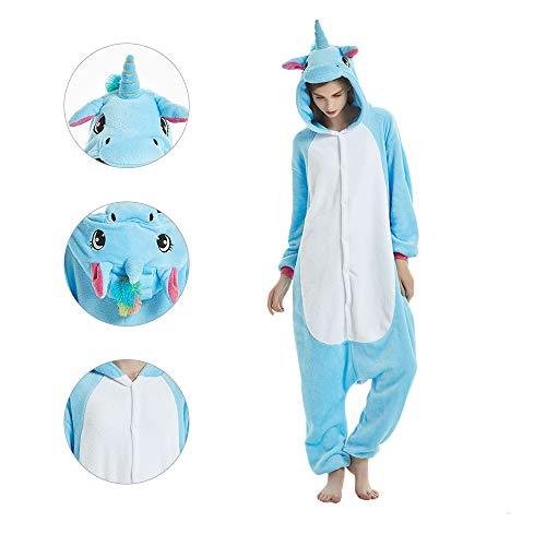 Unisex Tier Cosplay Kostüm Flanell Einhorn Overall Halloween Karneval Pegasus Pyjamas