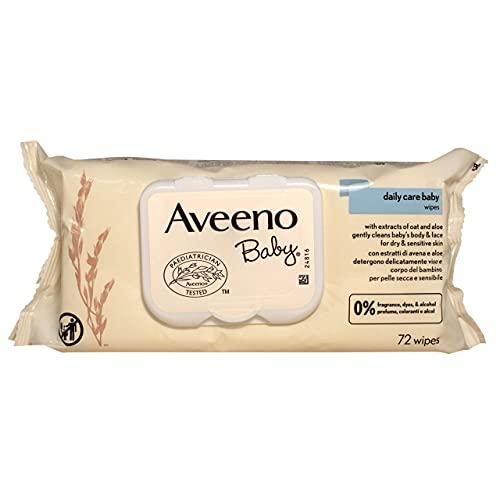 Aveeno Baby Daily Care Salviettine con estratto di avena e aloe, 72 salviettine