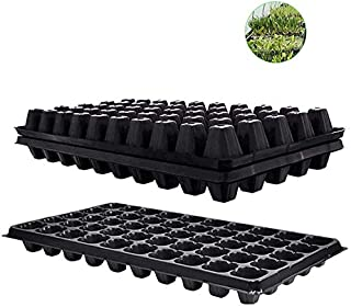Sponsored Ad - Seed Starter Tray,10 Pack BPA-Free Planting Trays with Drain Holes 50-Cell Seeding Starter Tray for Plantin...