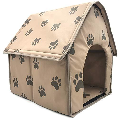 Heylas Weiche Hundehütte Innen Klein Mittel Hundehütten, Tragbares Haustier Schwamm Material und Ideal für Transport und Kurztrips