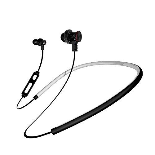 GUORZOM Bluetooth Headset Beste Wireless Sport Kopfhörer Subwoofer HD Stereo Schweiß Kopfhörer in Ohr Kopfhörer Noise Elimination Magnetische Kopfhörer Gym Laufübung, Black