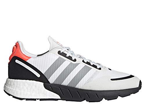 adidas ZX 1K Boost, Zapatillas Deportivas Hombre, Crystal White Silver Met Core Black, 46 EU