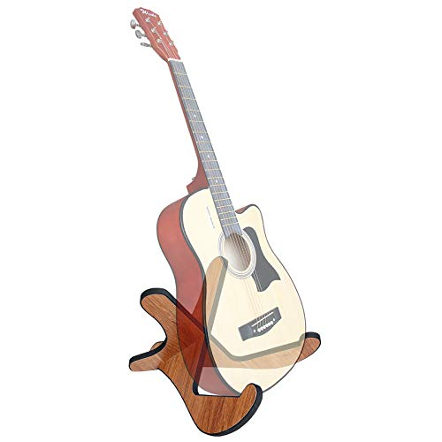 Wooden Guitar Stands,X-Frame Sturdy Instrument Stand with Soft Edge, for All Acoustic Classic Bass Electric Guitars Travel Guitar Stand