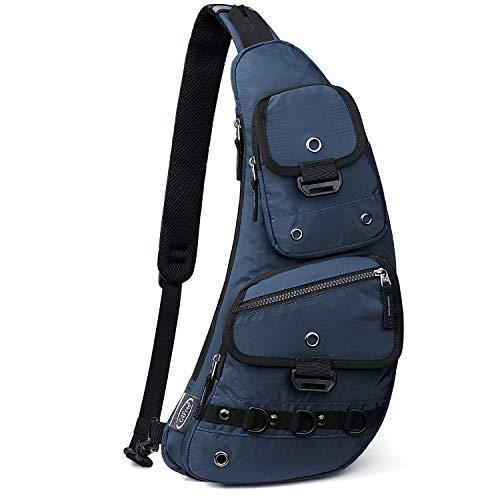 G4Free Sling Bag Molle Brust Schulter Crossbody Rucksack Hundetasche Mehrzweck Tagesrucksack für Outdoor Radfahren Reisen Wandern Unisex