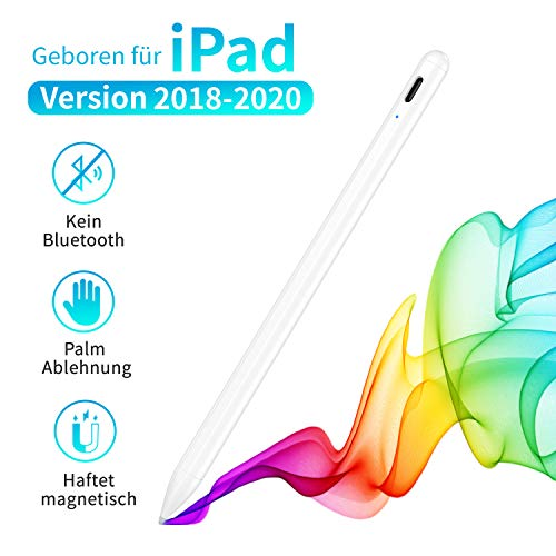 Stylus Pen für iPad, iPad Stift mit Palm Rejection, Haftet magnetisch. Kompatibel mit iPad 7th Gen/iPad 6th Gen/iPad Pro 3rd 2018&2020 (11/12.9 Inch)/iPad Air 3rd Gen/iPad Mini 5th Gen