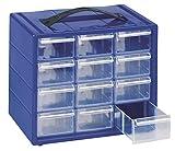 cassettiera monoblocco mobil plastic 'espace 12' in resina antiurto e cassetti infrangibili con fermo e divisori estraibili.