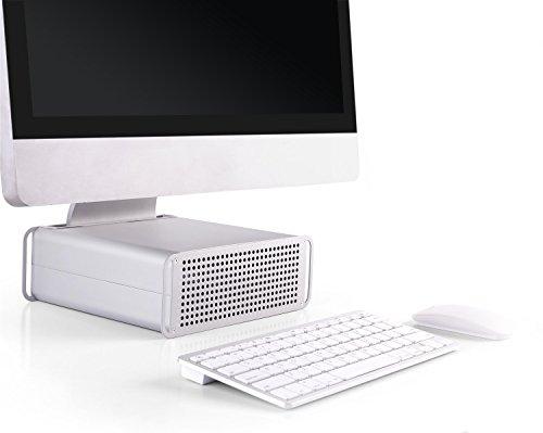 """RICOO MTS-03 Soporte para iMac Elevador para PC All in One Monitor de 21-27"""" (53-69cm) Base de pie Escritorio Altura Ajustable Ordenador Mesa"""