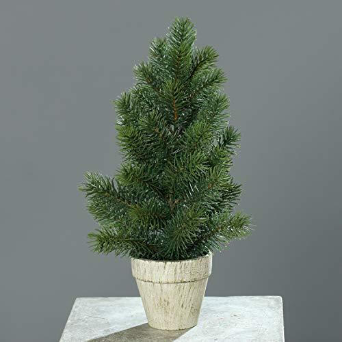 mucplants Künstliche Tanne im Topf 40cm Bäumchen Kunsttanne Tannenbaum Tischdeko Kunstpflanze