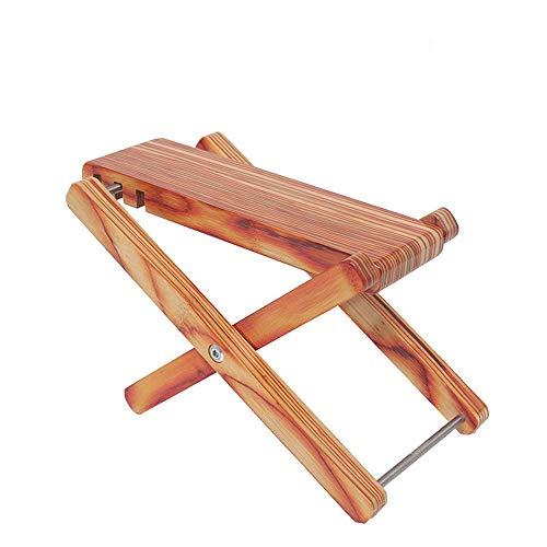 YADSHENG Guitar Lead Cable Acoustic Guitar Real Bamboo Pedal Guitar Pedal Foot Pedal Classical Guitar Pedal Footstool Easy for Storage Instrument Cables (Color : Wood)