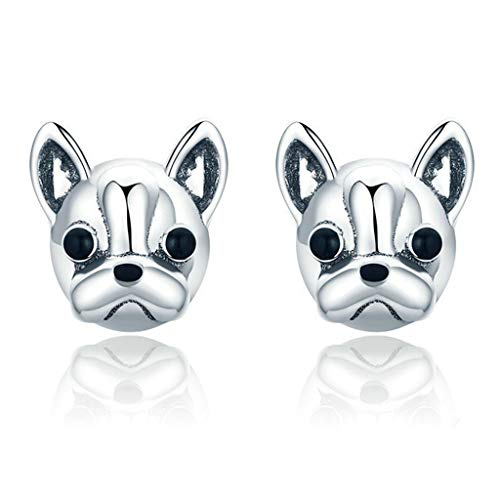 1 Pair French Bulldog Metal Earrings Lovely Animal Ear Studs for Women Fashion Jewelry Gift Popular Women Girls Earrings Accessories