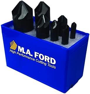 M.A. Ford 79000002 82° HSS 6 Flute Countersink 7 Piece Set, 79006