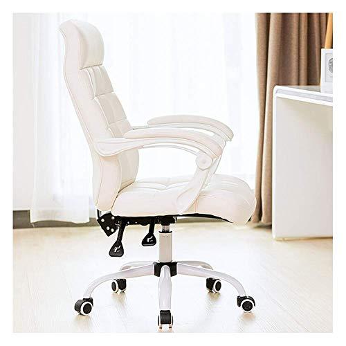 Computer Office Chair, Ergonomische Stoelen Thuis Slaapkamer Draaistoel Terug Stoel Student Stoel Recliner-White B ZHNGHENG (Size : White B)