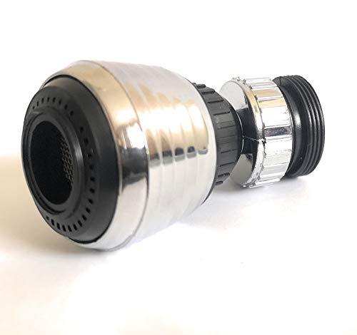 Grifo Aireador 360 Rotar Giratorio Ahorro de Agua Grifo Boquilla Filtro Adaptador Difusor
