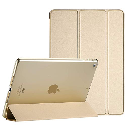 TechDealsUK Smart Magnetic Stand Case Cover with Automatic Wake/Sleep for Apple iPad Air (1st Generation) A1474 A1475 A1476 (Gold)
