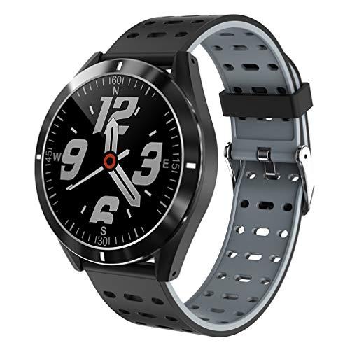 ibasenice Reloj Inteligente Multifunción Resistente Al Agua Frecuencia Cardíaca Presión Arterial Monitorización de Calorías Reloj Pulsera 1. 3 Pulgadas Reloj Deportivo para Mujeres Hombres