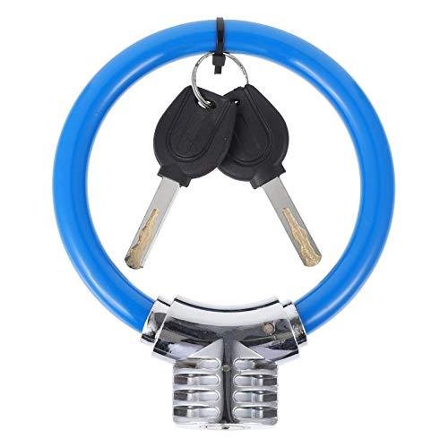 CLISPEED Candado de Seguridad para Bicicleta Candado de Cable con Llaves Candado de Cable de Alta Seguridad Candados para Bicicleta en Espiral con Soporte de Montaje Azul