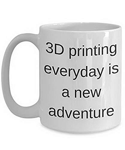 Tazas divertidas 3D impresión regalo idea para mujeres y niños taza de café de dibujos animados lindos hombres mujeres oficina amigos amantes taza de té, 11 oz, blanco