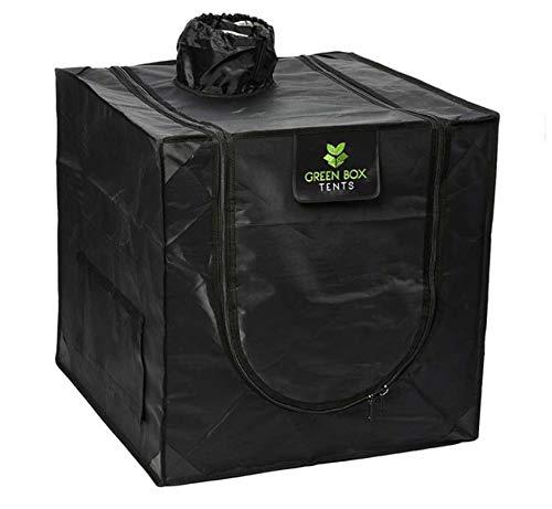 Hydroponics Propagation Green Box Tent Grow Room 0.6m x 0.6m x 0.6m Cutting Plant Indoor Growing Silver Mylar 600D Dark Box Bud
