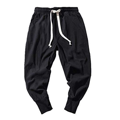 Los Hombres Pantalones Harem Cordón Retro Joggers De Algodón Sólido Ropa De Calle Casual Pantalones De Los Hombres Sueltos Pantalones De Chándal Más El Tamaño 7